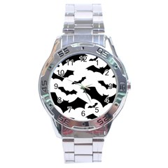 Deathrock Bats Stainless Steel Watch by ArtistRoseanneJones