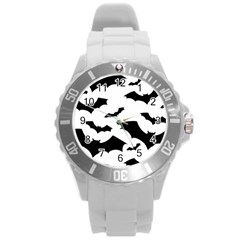 Deathrock Bats Plastic Sport Watch (large) by ArtistRoseanneJones