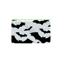 Deathrock Bats Cosmetic Bag (xs) by ArtistRoseanneJones