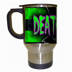 Deathrock Diva Travel Mug (white) by ArtistRoseanneJones