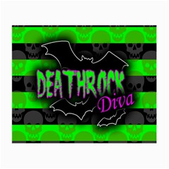 Deathrock Diva Glasses Cloth (small, Two Sided) by ArtistRoseanneJones