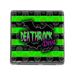 Deathrock Diva Memory Card Reader With Storage (square) by ArtistRoseanneJones