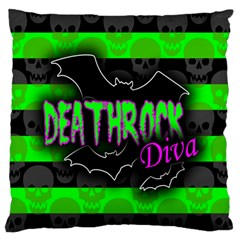 Deathrock Diva Standard Flano Cushion Case (one Side)