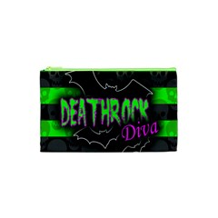 Deathrock Diva Cosmetic Bag (xs) by ArtistRoseanneJones