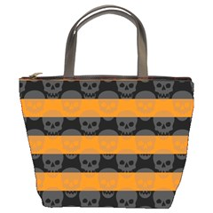 Deathrock Stripes Bucket Handbag by ArtistRoseanneJones
