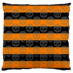 Deathrock Stripes Large Cushion Case (two Sided)