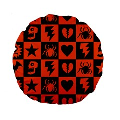 Goth Punk Checkers Standard 15  Premium Round Cushion