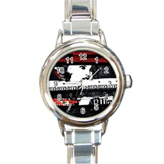 Punk Chick Round Italian Charm Watch