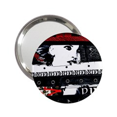 Punk Chick Handbag Mirror (2 25 ) by ArtistRoseanneJones