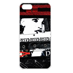 Punk Chick Apple Iphone 5 Seamless Case (white) by ArtistRoseanneJones