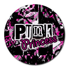 Punk Princess 8  Mouse Pad (round)