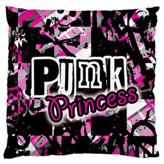 Punk Princess Large Flano Cushion Case (two Sides) by ArtistRoseanneJones