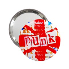 Punk Union Jack Handbag Mirror (2 25 ) by ArtistRoseanneJones
