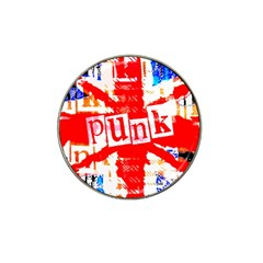 Punk Union Jack Golf Ball Marker (for Hat Clip) by ArtistRoseanneJones