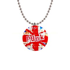 Punk Union Jack Button Necklace by ArtistRoseanneJones