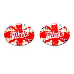 Punk Union Jack Cufflinks (oval) by ArtistRoseanneJones