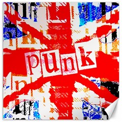 Punk Union Jack Canvas 16  X 16  (unframed) by ArtistRoseanneJones