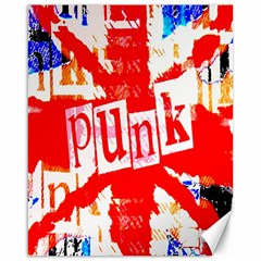Punk Union Jack Canvas 16  X 20  (unframed) by ArtistRoseanneJones