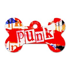 Punk Union Jack Dog Tag Bone (two Sided) by ArtistRoseanneJones