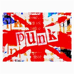 Punk Union Jack Glasses Cloth (large) by ArtistRoseanneJones
