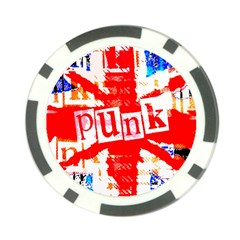 Punk Union Jack Poker Chip by ArtistRoseanneJones