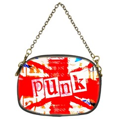 Punk Union Jack Chain Purse (two Sided)  by ArtistRoseanneJones