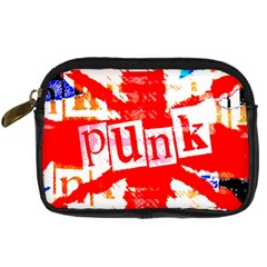 Punk Union Jack Digital Camera Leather Case by ArtistRoseanneJones