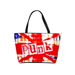 Punk Union Jack Large Shoulder Bag by ArtistRoseanneJones