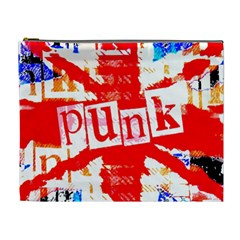 Punk Union Jack Cosmetic Bag (xl) by ArtistRoseanneJones