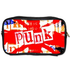 Punk Union Jack Travel Toiletry Bag (one Side) by ArtistRoseanneJones