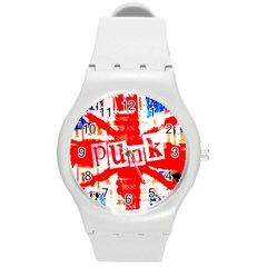 Punk Union Jack Plastic Sport Watch (medium) by ArtistRoseanneJones