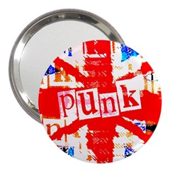 Punk Union Jack 3  Handbag Mirror by ArtistRoseanneJones