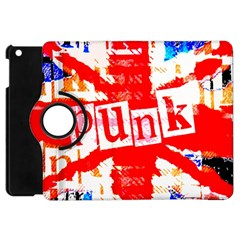 Punk Union Jack Apple Ipad Mini Flip 360 Case by ArtistRoseanneJones