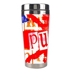 Punk Union Jack Stainless Steel Travel Tumbler by ArtistRoseanneJones