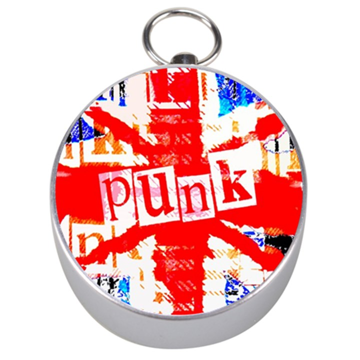 Punk Union Jack Silver Compass