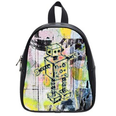 Graffiti Graphic Robot School Bag (small) by ArtistRoseanneJones