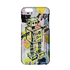 Graffiti Graphic Robot Apple Iphone 6 Hardshell Case by ArtistRoseanneJones