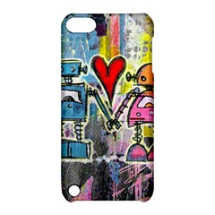 Graffiti Pop Robot Love Apple Ipod Touch 5 Hardshell Case With Stand by ArtistRoseanneJones