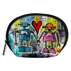 Graffiti Pop Robot Love Accessory Pouch (medium)