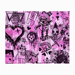 Pink Scene Kid Sketches Glasses Cloth (small) by ArtistRoseanneJones