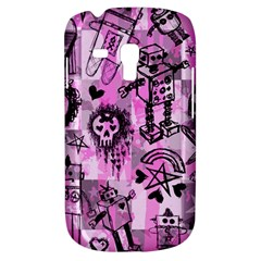 Pink Scene Kid Sketches Samsung Galaxy S3 Mini I8190 Hardshell Case by ArtistRoseanneJones