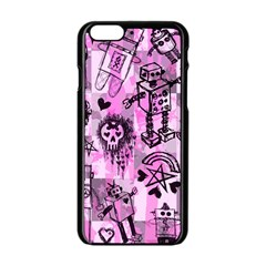 Pink Scene Kid Sketches Apple Iphone 6 Black Enamel Case by ArtistRoseanneJones