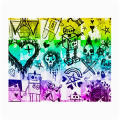 Rainbow Scene Kid Sketches Glasses Cloth (small) by ArtistRoseanneJones