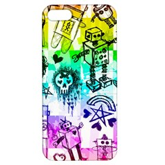 Rainbow Scene Kid Sketches Apple Iphone 5 Hardshell Case With Stand