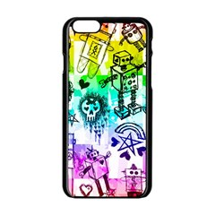 Rainbow Scene Kid Sketches Apple Iphone 6 Black Enamel Case by ArtistRoseanneJones