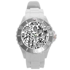 Robot Crowd Plastic Sport Watch (large)
