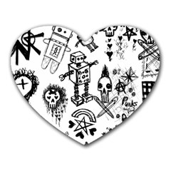 Scene Kid Sketches Mouse Pad (heart)