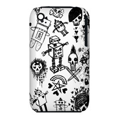 Scene Kid Sketches Apple Iphone 3g/3gs Hardshell Case (pc+silicone) by ArtistRoseanneJones