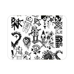 Scene Kid Sketches Double Sided Flano Blanket (mini) by ArtistRoseanneJones