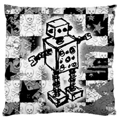Sketched Robot Large Cushion Case (single Sided)  by ArtistRoseanneJones
